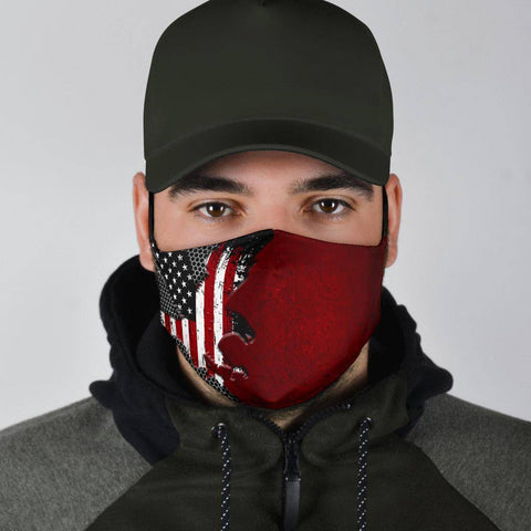 Image of Anerica Eagle with Flag Mask Face Mask