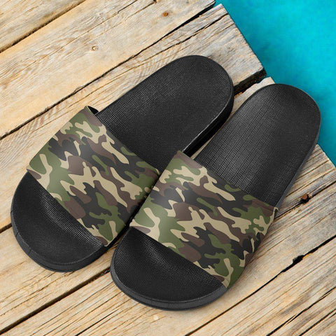 Image of Green Camo Slide Sandals V.1 Slides