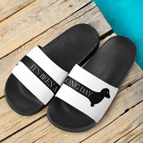 Image of It's Been a Long Day Doxie Slide Sandals Slides