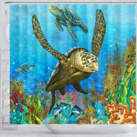 Image of Turtle Shower Curtain, V.5 shower curtain