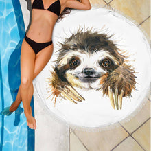 Happy Sloth Beach Blanket