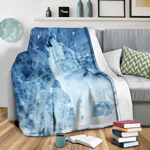 Image of Winter Wolf Blanket
