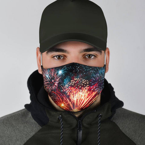 Image of Fireworks Face Mask V3 Face Mask
