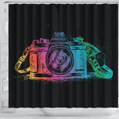 Image of Camera Shower Curtain, V.1 shower curtain
