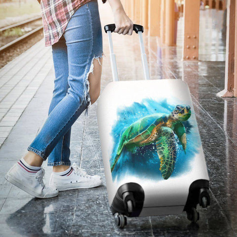 Image of Cool Turtle Luggage Cover V3