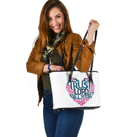 Image of Trust In The Lord, Vegan Leather Tote Bags