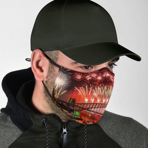 Image of Fireworks Face Mask V1
