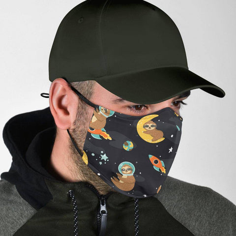 Space Sloth Face Mask