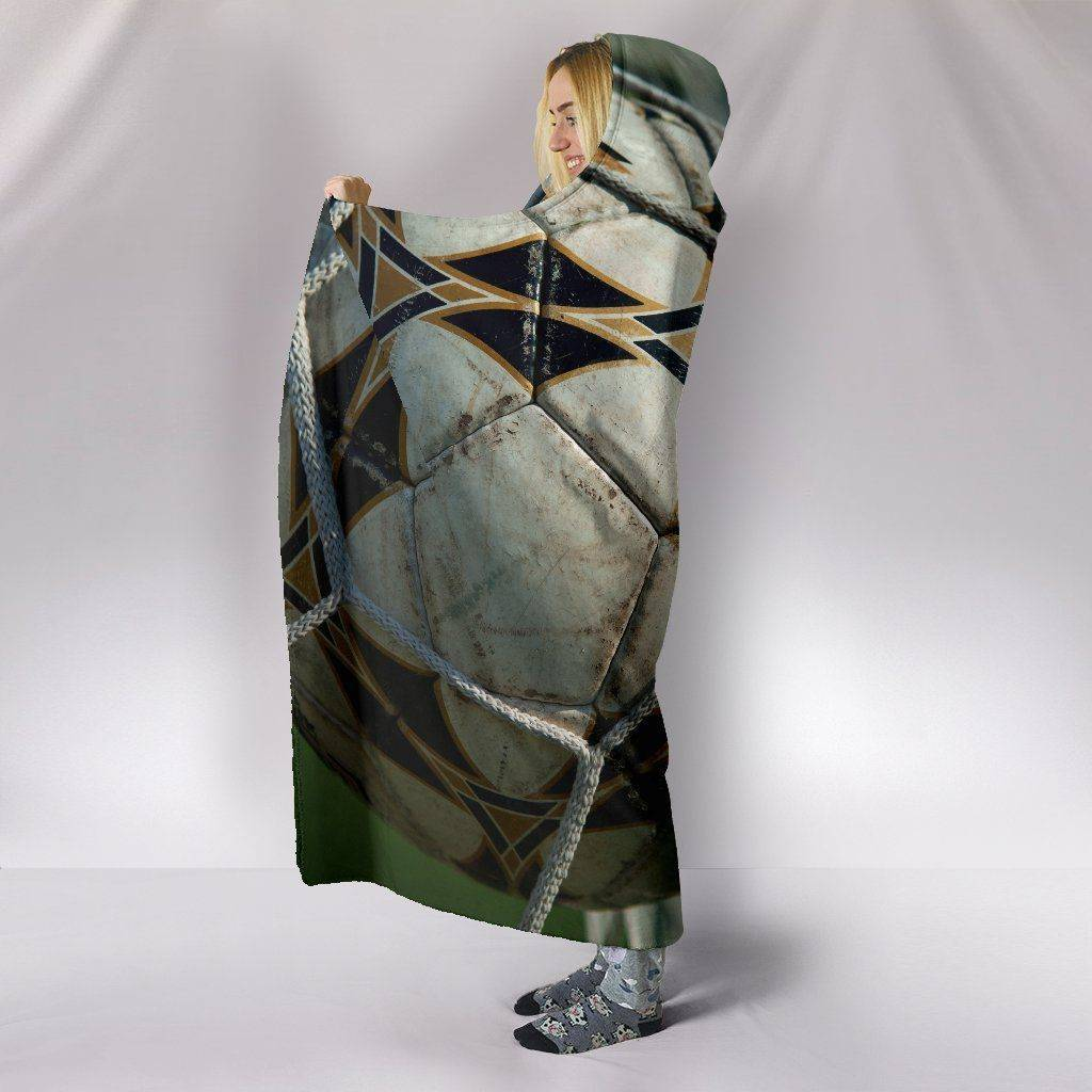 Premium Hoodie Blanket with Football