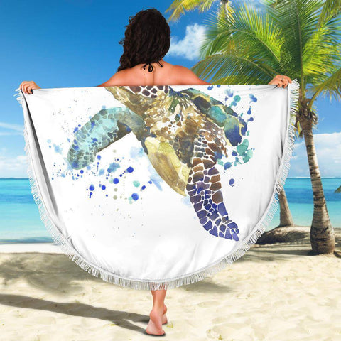 Image of Turtle Blanket V.1 Beach Blanket