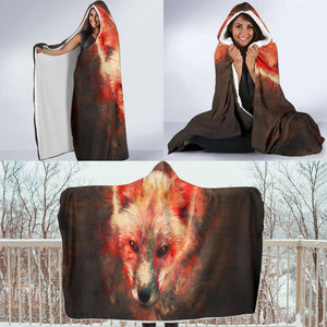 Fox Hooded Blanket V.1
