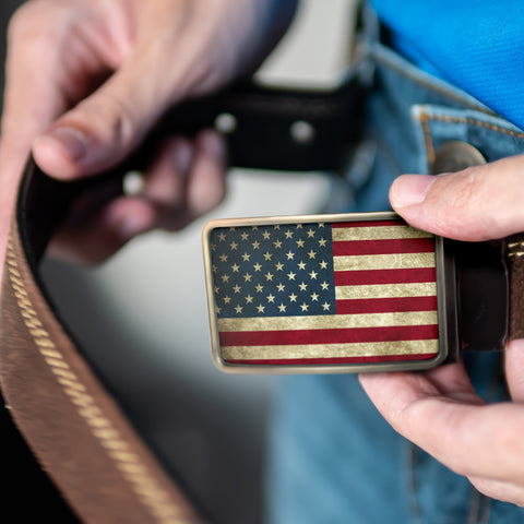 Image of American Flag Belt Buckle