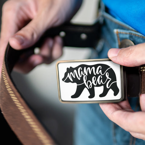 Image of Mama Bear Belt Buckle