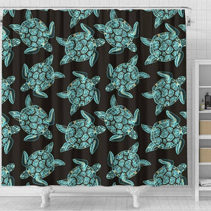 Turtle Shower Curtain, V.4 shower curtain