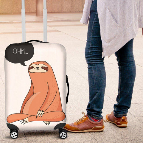 Image of Yoga Sloth Luggage Cover