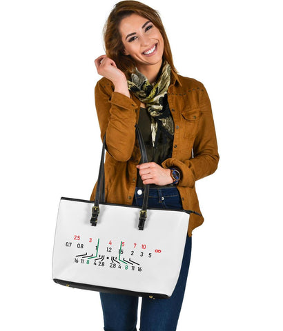 Image of Focal Length, Large Vegan Leather Tote Bags