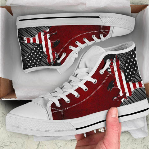 Image of American Eagle Of Freedom High Tops Shoes