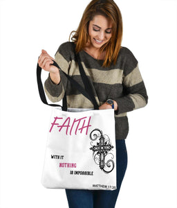 Nothing Is Impossible, Matthew 17:20, Tote Tote Bag