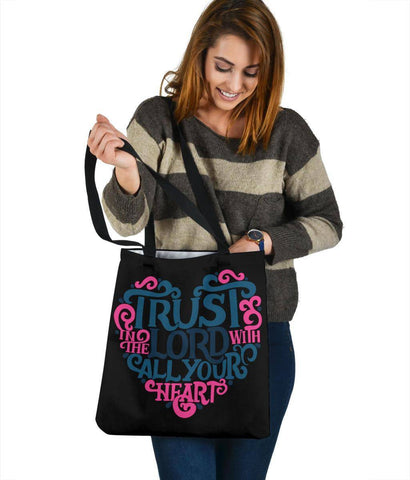 Image of Trust In The Lord, Canvas Tote Bags Tote Bag