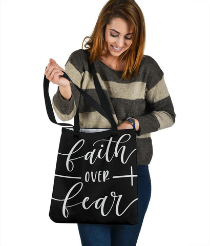 Faith Over Fear, Canvas Tote Tote Bag