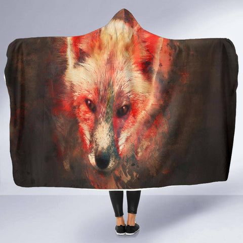 Image of Fox Hooded Blanket V.1