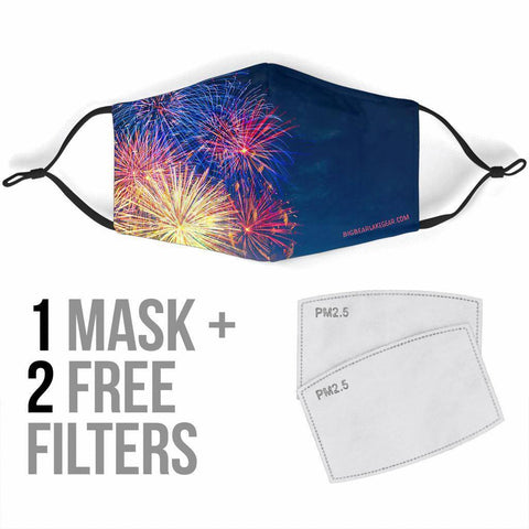 Image of Fireworks Face Mask V2 Face Mask