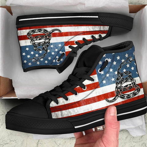 'Merica Dont Tread On Me Canvas Shoes Shoes