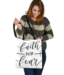 Faith Over Fear Canvas Tote Tote Bag