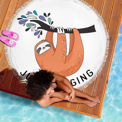 Image of Fun 'Just Hanging' Beach Blanket