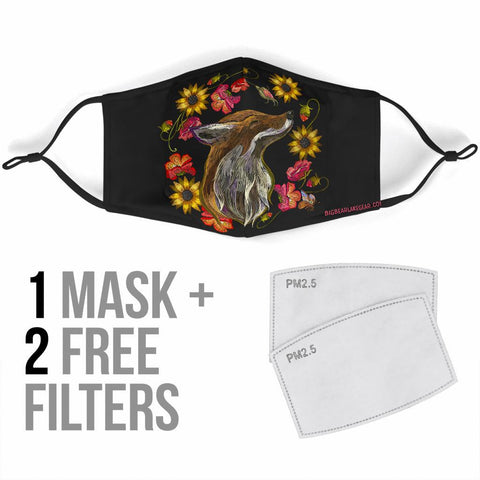 Fox Face Mask Face Mask