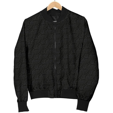 Image of Premium Bomber Jacket with Grey Flowers