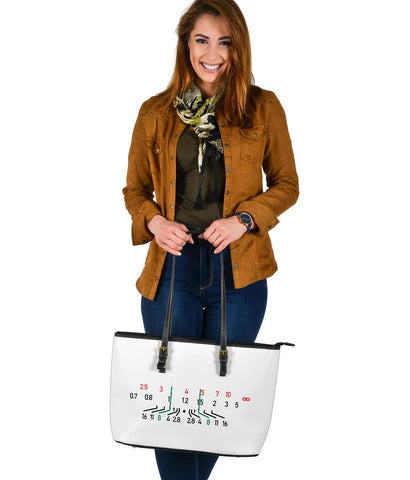 Focal Length, Large Vegan Leather Tote Bags