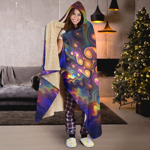 Image of Fractal Hooded Blanket V.4