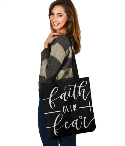 Image of Faith Over Fear, Canvas Tote