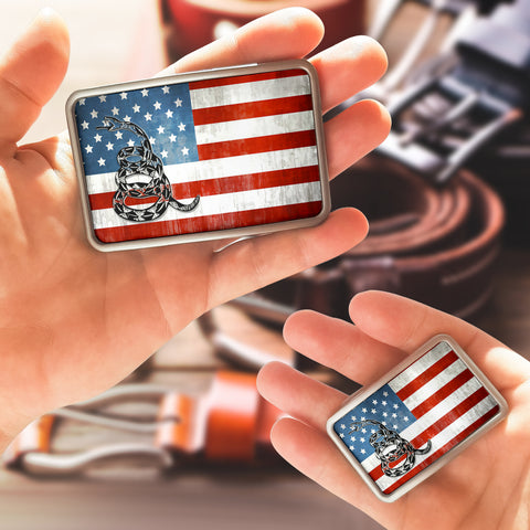 Image of American Flag 2A Belt Buckle