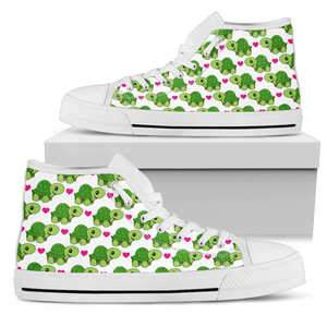 Woman's Turtles Hearts High Top
