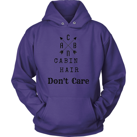 Image of CABN, Cabin Hair, Don't Care T-shirt Unisex Hoodie Purple S