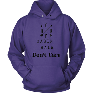 CABN, Cabin Hair, Don't Care T-shirt Unisex Hoodie Purple S