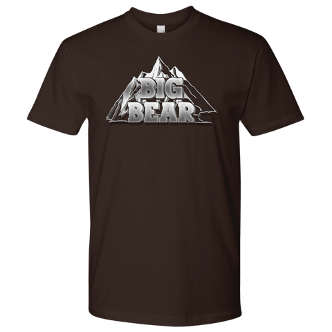 Image of Big Bear V.2, Mens T-shirt Next Level Mens Shirt Dark Chocolate S