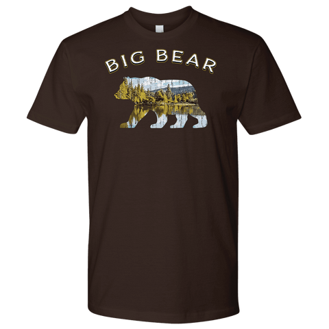 Image of Big Bear V.1 Men's Shirts T-shirt Next Level Mens Shirt Dark Chocolate S