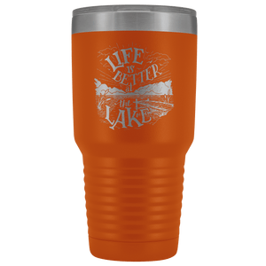 Life is Better at the Lake | 30 oz. tumbler Tumblers Orange