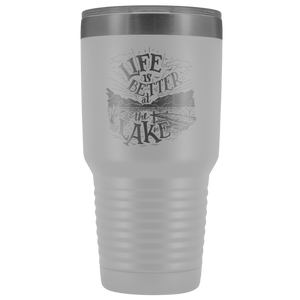 Life is Better at the Lake | 30 oz. tumbler Tumblers White