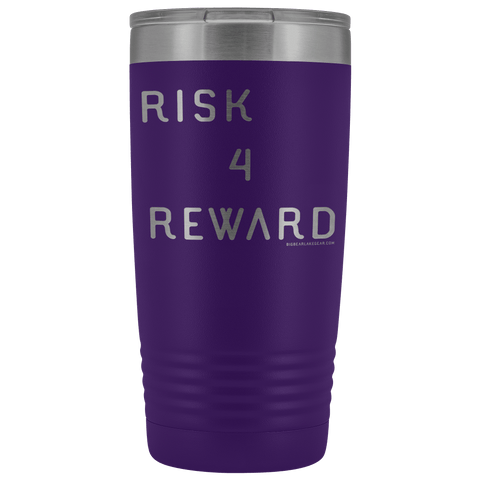 Image of Risk 4 Reward | Try Things and Get Rewards | 20 oz Tumbler Tumblers Purple
