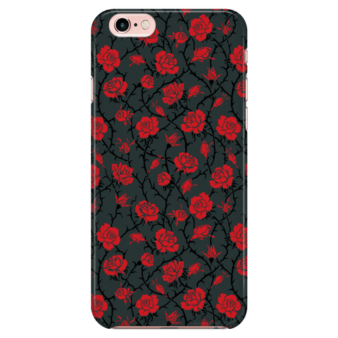 Image of Gorgeous Red Roses Phone Case Phone Cases iPhone 7/7s/8