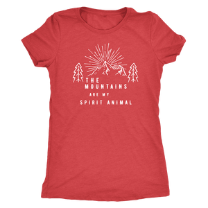Mountains Spirit T Shirt 1 T-shirt Next Level Womens Triblend Vintage Red S