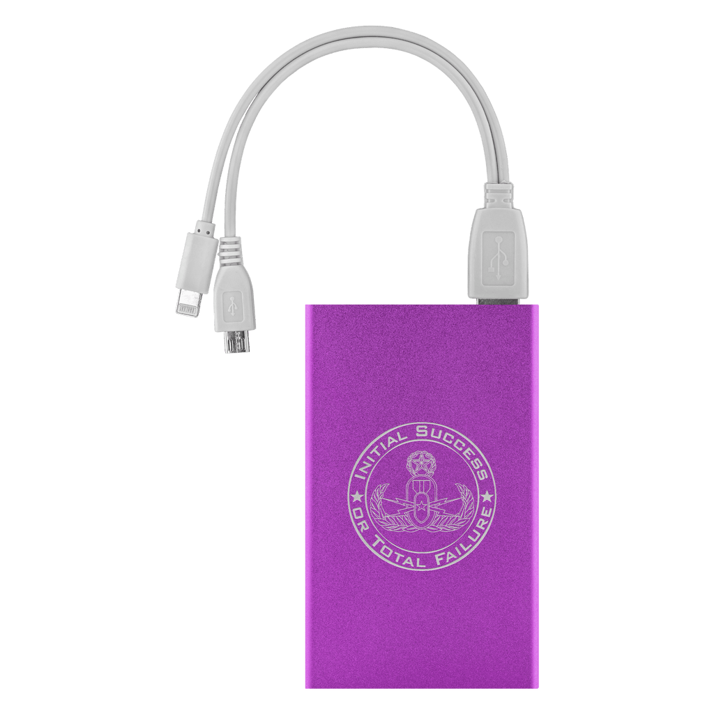 Initial Success or Total Failure EOD Power Bank Power Banks Purple