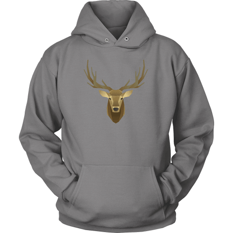 Image of Deer Portrait, Real T-shirt Unisex Hoodie Grey S