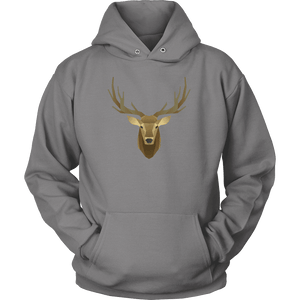 Deer Portrait, Real T-shirt Unisex Hoodie Grey S