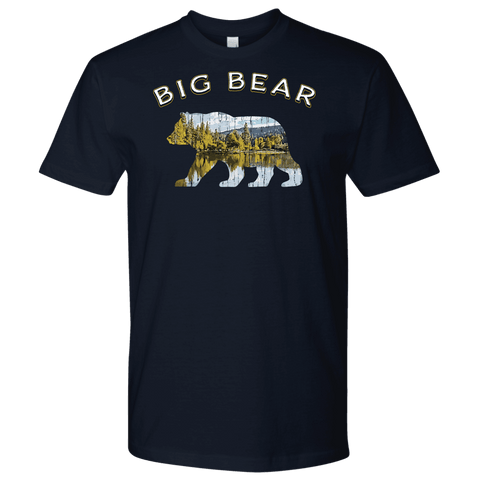 Image of Big Bear V.1 Men's Shirts T-shirt Next Level Mens Shirt Navy S