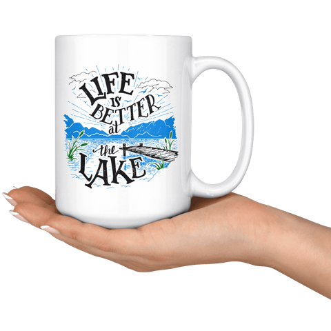 Image of Life is Better at the Lake | 15oz. mug Drinkware